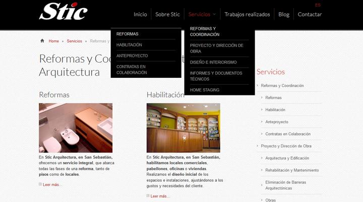 Pagina web guipuzcoa stic arquitectura for Arquitectura pagina web